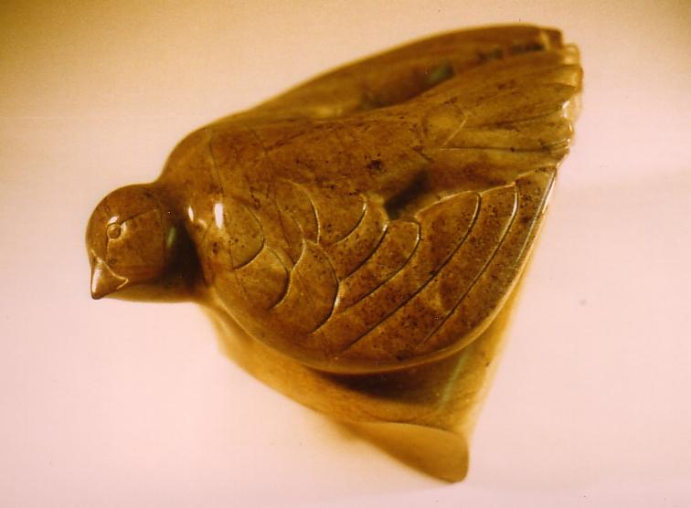 Soapstone rock dove