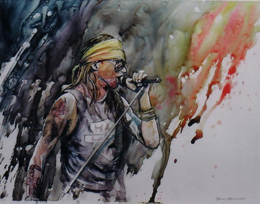 Axl Rose by Dennis Kalichuk